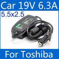 DC120W 19V 6.3A Laptop Adapter Car Charger 5.5 2.5 Tip For Toshiba A100 L310 L730 G50 X500 L650 J60 M900 R830 NB500