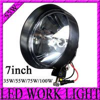 7'' hid driving spot lights 35W 55W 75W 100W 4x4 offroad Truck H3 Xenon spotlights,the headlight of the working external  lights