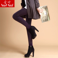 Autumn and winter plus velvet thickening high waist seamless one piece pants cashmere thermal step on the foot ankle length