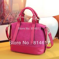 2013 fashion women's nubuck and PU leather handbag shoulder cross body bag messenger bag online free shipping drop shipping