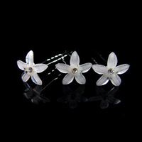 30pcs  bride wedding hair accessories, crystal resin flower hairpin