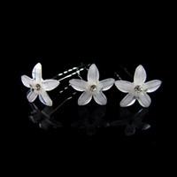 30pcs  bride wedding hair accessories, crystal resin flower hairpin