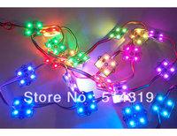 200pcs/string waterproof led pixel module,4pcs SMD RGB 5050,1pcs WS2801,256 gray level,DC12V,0.96W