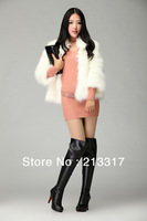 Knee-high boots of 2013 autumn winters in Europe and the high-heeled shoes thin leg waterproof zipper female boots