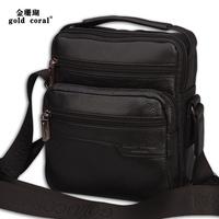 genuine leather Man bag casual male small handbag fashion messenger bag commercial cowhide shoulder bag