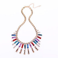 Wholesale Crystal Necklace Fashion Jewelry exaggerated strip N1109