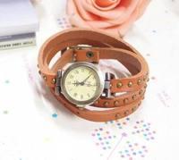 Big Sale Genuine Cow Leather Punk Style Wrape Watch Women Fashion Bracelet Quartz Watch wholesale AN