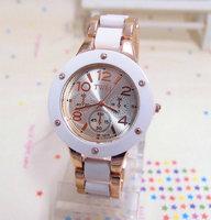 Wholesale New Arrival Fashion Rose Gold Tone Watch Women Ladies Quartz Dress Watch Wristwatches TW028 AN