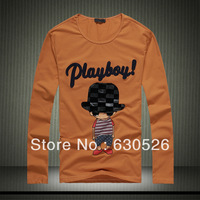 2013 autumn male long-sleeve T-shirt  6619