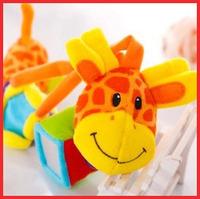 2014 new Multifunctional baby  plush toy lathe hanger music bb device teethers