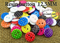 200PCS 10 color  mixed 12.5 MM RESIN button sweater SHIRT CLOTHING buttons clothes accessory crafts R-161