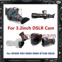Foldable 2.5X Viewfinder Magnification Loupes For Canon 5D3 Nikon D7100 D5300 D800E D600 D610 Pentax K3 DSLR 3.2'' LCD PB071
