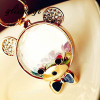 Free Shipping Luxurious Austrian color rhinestone cute teddy bear sweater chain MSY-022