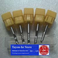 5 pcs 3.175x12mm Single Flute Spiral Bits for Acryl,PVC,Wood Free Shipping TYM
