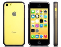 Color Contrast Plastic & TPU Rubber Protective Case for iPhone 5C  LIP-4294D