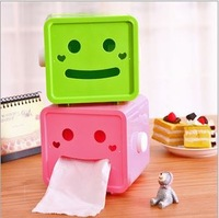 Free shipping 2PCS/lot wholesale Square face Tissue box roll paper pull Boxes 4 colors in stock