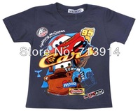Free Shipping 2013 new kids boys baby girls cotton cartoon t shirt anime cars T-shirt,cartoon boys short sleeve t shirts child