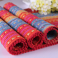 Sallei knitted red placemats fresh heat pad bowl pad disc pads