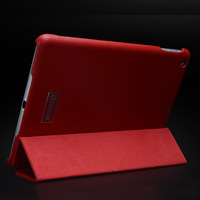Genuine leather case for iPad Air/iPad5,three fold design cover,auto sleep function tablet cover,free shipping