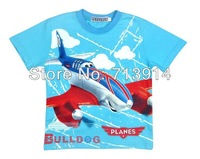 Free Shipping 2013 new kids boys baby girls cotton cartoon t shirt anime planes T-shirt,cartoon boys short sleeve t shirts