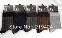Pure cotton male socks quality manual boneless cotton male stripe male gentleman socks business men's socks