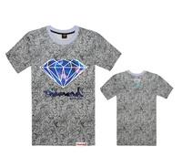 Brand T-Shirt Diamond Supply Co Men's t shirts short sleeve Hip hop Men fashion Clothes Floral Leopard Hip hop tees 100% cotton