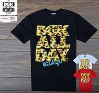 Leopard print dgk fashion hiphop street skateboard hip-hop 100% short-sleeve cotton round neck T-shirt