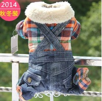 Jimmy doll autumn and winter dog pet teddy denim bib pants clothing dog clothes winter