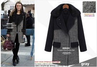 Free Shipping 2013 winter ladies' fashion leisure thickening fur collar woolen overcoat