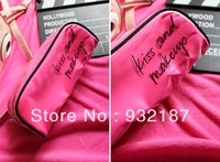 Free shipping,luxury brand women professional makeup case/bag pink cosmetic bag
