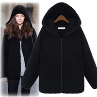 winter coat womens NEW Warm cashmere jacket woman fashion Warm cotton clothing European style Cap woolen jacket coat big size