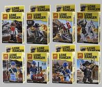100% Hot Sale 8PCS Lot LONE RANGER 3D Toy Super heroes Block BARRET/JESUS/SOLDIER Avengers Star wars DIY Building blocks