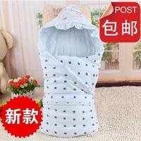 Newborn cotton 100% holds autumn and winter thickening big bag newborn baby 100% cotton blankets baby holds supplies