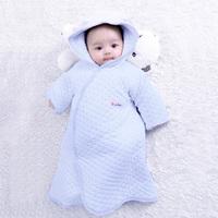 Sallei parisarc newborn baby holds sleeping bag dual 100% cotton baby robe blankets