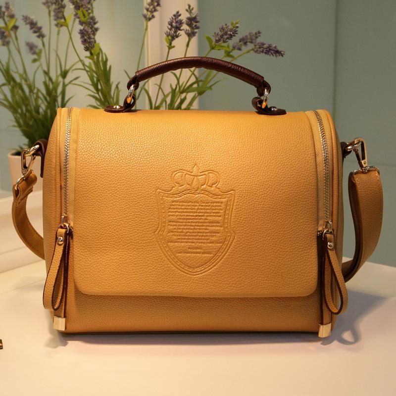 HOT!!!2014 women's candy color handbag vintage fashion one shoulder small bag messenger bag(China (Mainland))