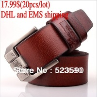 Christmas Promotion - (20PCS/lot)/Belt Brand/Men Belts Genuine Leather/Leather Belts/Fashion Belt/ DHL and EMS Free Shipping