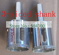 2 pcs/ set  30 mm diamond-coated hole saw drill bits for glass and marble