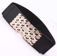 Golden belt tightness of women's fashion to han edition waist buckle closure decoration crony down jacket belt