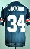 Men's American Football Auburn Tigers Bo Jackson #34 Navy Blue College Throwback Jerseys Sewn Logos Size M-3XL Free Shipping