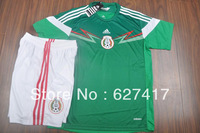 The Global Free shipping National team jersey-Grade A 13-14  Mexico home green jersey Top thai quality jersey Football suit