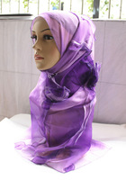 Fashion women's bandanas 3 female scarf purple