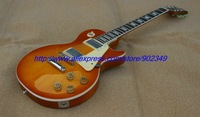 Wholesale - 2012 Hot Selling thin cherry burst standard model Electric guitar with large headstock plain no flame / in stock