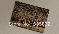 51*35cm Basketball Vintage Poster Michael Jordan Retro Paper Bulls Home Decor Wall Painting 2pcs
