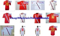 russia national soccer jersey wholesale thai uniform new Football home away national 13 14 Embroidery quality tshirt