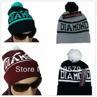 Hot Sale!Diamond Beanie 2013 Sport Winter Cap Men Hat Beanie Knitted Winter Hats For Women Fashion Caps