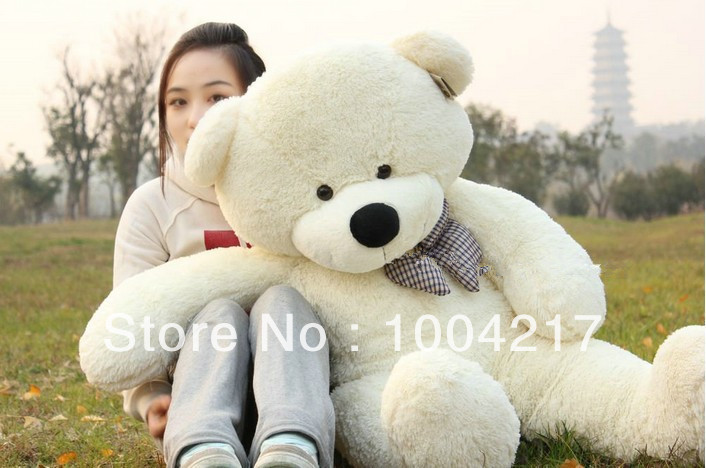 High quality Low price Plush toys large size120cm / teddy bear 120cm/big embrace bear doll /lovers/christmas gifts birthday gift(China (Mainland))