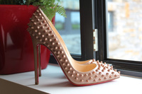 Free shipping Fashion designer luxury Nude Patent leather stud spikes Platform High Heels shoes women's Pumps boots sandals