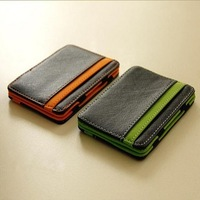 Free Shipping New Hot Magic creative Money CLIP Leather Wallet ID Bag Cash Holder Credit Card Cover Case