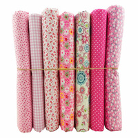New Arrival~ 50x50cm 7 Prints Assorted Pink Collection Cotton Sewing Fabric, Diy Cloth for Patchwork Quilting Tilda Dropshipping