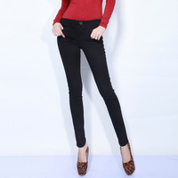 2013 women's solid color skinny pants pencil pants slim trousers casual all-match